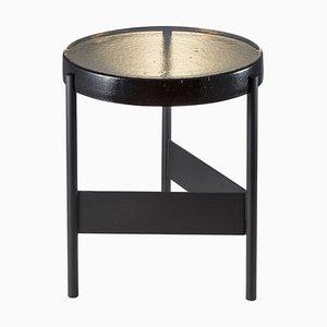 Alwa Two 5600GB Beistelltisch mit rauchfarbener grauer Tischplatte & schwarzem Fuß von Sebastian Herkner für Pulpo