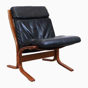 Norwegian Leather Siesta Armchairs by Ingmar Relling Westnofa, 1960s, Set of 2