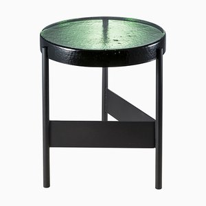 Alwa Two 5600GREB Side Table with Green Top & Black Base by Sebastian Herkner for Pulpo