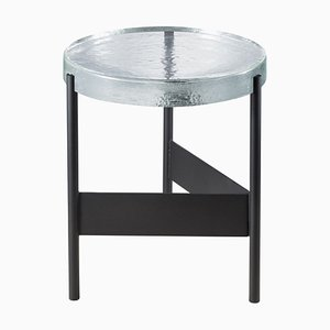 Alwa Two 5600TB Side Table with Transparent Top & Black Base by Sebastian Herkner for Pulpo