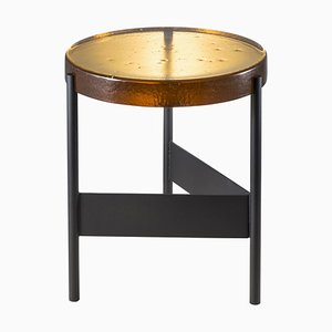 Alwa Two 5600AB Side Table with Amber Top & Black Base by Sebastian Herkner for Pulpo