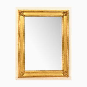Small Early-19th Century Rectangle Wall Mirror with Gold Leaf Frame