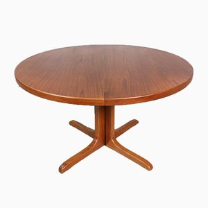 Danish Round Teak Dining Table, 1960s