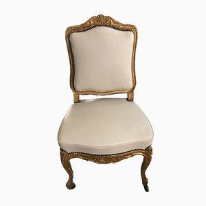 Antiker barocker vergoldeter Salon Stuhl