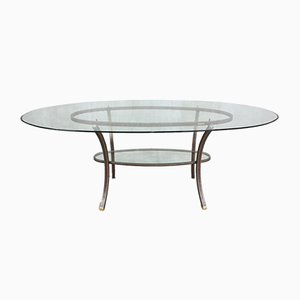 French Oval Dining Table by Pierre Vandel, 1970s