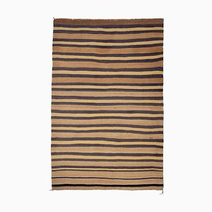 Vintage Turkish Striped Kilim Rug, 1970s