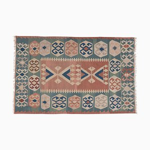 Vintage Turkish Tapestry Folk Art Kilim Rug, 1970s