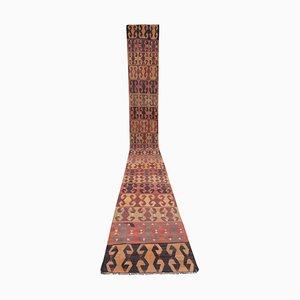 Vintage Turkish Handmade Embroidered Kilim Runner Rug, 1970s