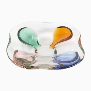 Mid-Century Glass Bowl by Frantisek Zemek for Mstisov, 1950s