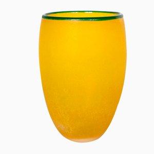 Italienische Vintage Scavo Vase aus Muranoglas von Franco Moretti, 1980er