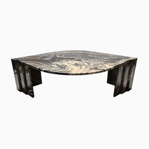Vintage Italian Marble Eye-Shaped Coffee Table, 1970s