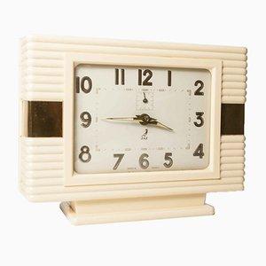 Horloge Mécanique en Bakélite Dorée de Jaz, 1950s