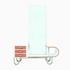 Commode à Tiroirs Bauhaus avec Miroir, 1930s