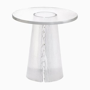 Bent Side Table High 2350T in Transparent by Sebastian Herkner for Pulpo
