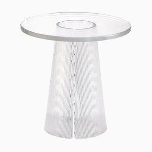 Tavolino Bent 2350T in vetro trasparente di Sebastian Herkner per Pulpo