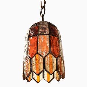 Lámpara colgante de vidrio multicolor de Albano Poli para Poliarte, años 70