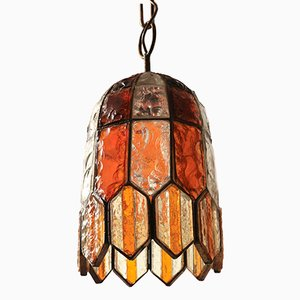 Multicolored Glass Pendant Lamp for Poliarte, 1970s