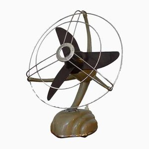 Streamline Sand Colored Model Libelle Fan from from Schoeller & Co., 1950s