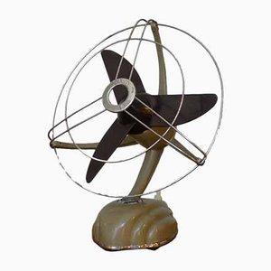 Streamline Sandfarbener Modell Libelle Ventilator von Schoeller & Co., 1950er