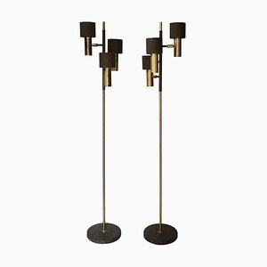 Vintage Brass Floor Lamps by Koch & Lowy, 1970s, Set of 2
