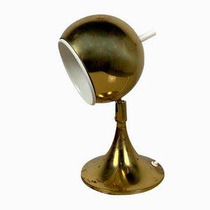 Gold Globe Lamp, 1980s