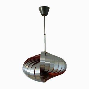 Französische Deckenlampe in Spiralform von Henri Mathieu für Lyfa, 1960er