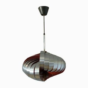 French Spiral-Shaped Ceiling Lamp by Henri Mathieu for Lyfa, 1960s