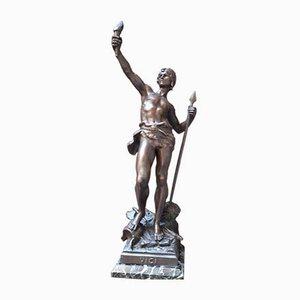 Antike Krieger Statue von Emille Moreau