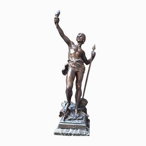 Statue Guerrier Antique de Emille Moreau