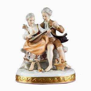 Figurine Musiciens en Porcelaine de VEB Unterweißbacher Werkstätten für Porzellankunst, 1960s