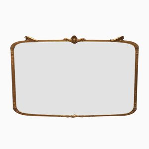 Antique Giltwood Horizontal Mirror, 1910s
