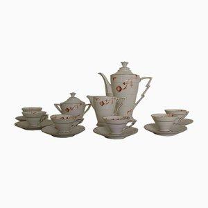 Art Deco German Porcelain Coffee Set, 1940s