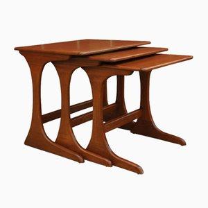 Tavolini a incastro in teak di G-Plan, anni '60, set di 3