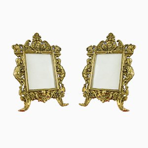 Vintage Neoclassical Style French Bronze Photo or Picture Frames, 1930s, Set of 2