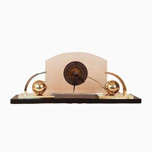 Große elektrische Art Deco Uhr, 1930er