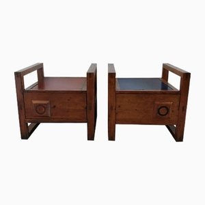 Pinewood Cabinets by Pierre Chapo, 1960s, Set of 2