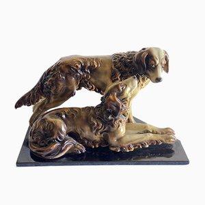 Art Deco Dog Figurines, 1940s