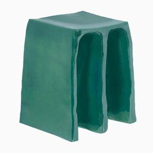 Taburete Chouchou 1701REGL en esmalte Reseda en verde de Lorenzo Zanovello para Pulpo