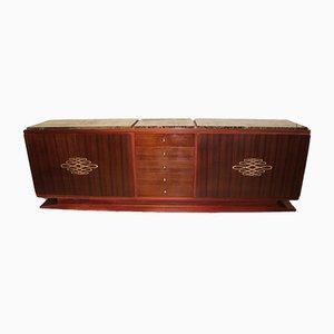 Großes Art Deco Palisander Sideboard, 1930er