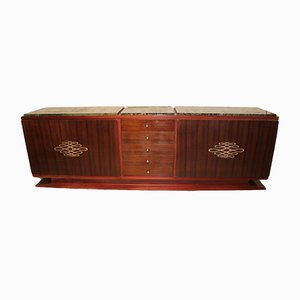 Large Art Deco Rosewood Sideboard, 1930s
