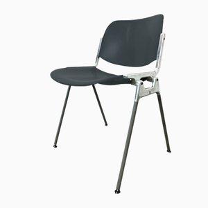 Black No. 106 Desk Chair by Giancarlo Piretti for Castelli / Anonima Castelli, 1960s