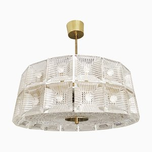 Two-Tier Chandelier by Carl Fagerlund for Orrefors, 1960s