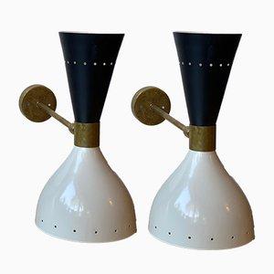 Sconces in the Style of Stilnovo, 1980s, Set of 2