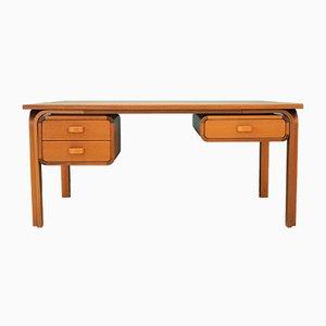 Vintage Danish Mahogany Desk from Magnus Olesen, 1970s