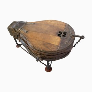 19th Century French Walnut Forge Bellows Coffee Table