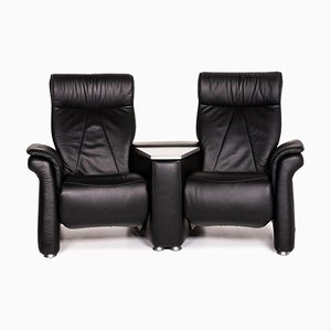 Black Leather 2-Seat Relax Function Sofa by Himolla for BPW