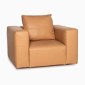 Brown Camel Leather Armchair from Zanotta