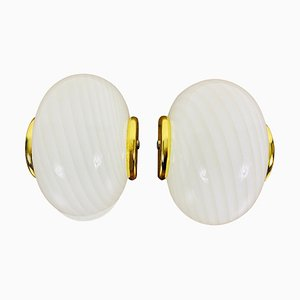 Opaque Glass Sconces from Peill & Putzler, Germany, 1970s, Set of 2