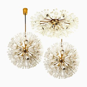 Snowball Orbit Sputnik Light Fixtures by Emil Stejnar, Austria, 1950s, Set of 3
