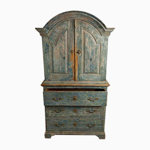Schwedischer Schrank aus dem späten 18. Jahrhundert mit Originalfarbe